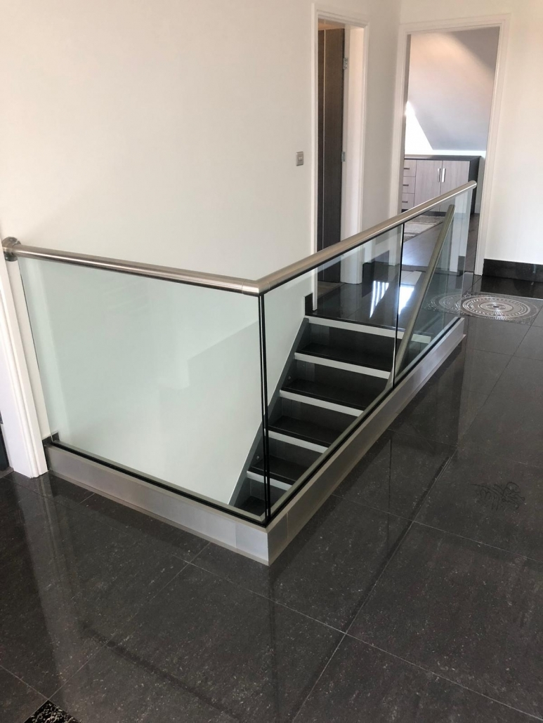 internal glass safety balustrade