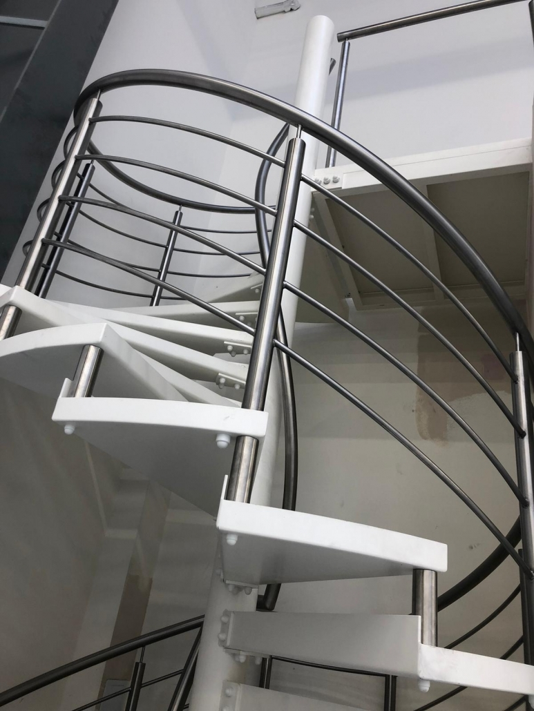 winding steel staircase fabrication