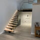 Single spine staircase and glass Yorkshire