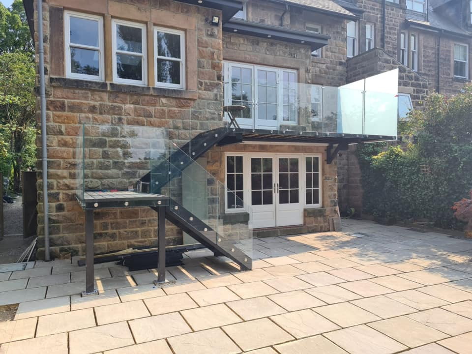 external staircase and glass united Kingdom